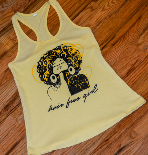Hair Free Girl Tank Top